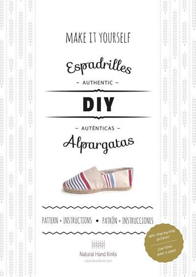 Patrón + instrucciones detalladas para hacer tus propias alpargatas.