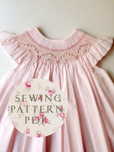 The Charming Bishop Dress 1 year - Sewing PDF Pattern