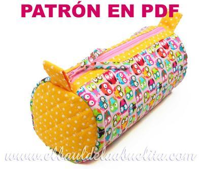 Patrón PDF - Estuche Neceser Circular