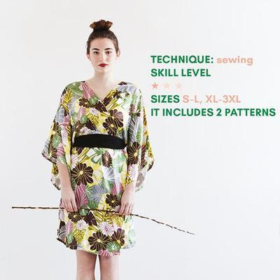 Kimono Patterns, Bridal Robes Patterns Women, Bridesmaid Robe Pattern