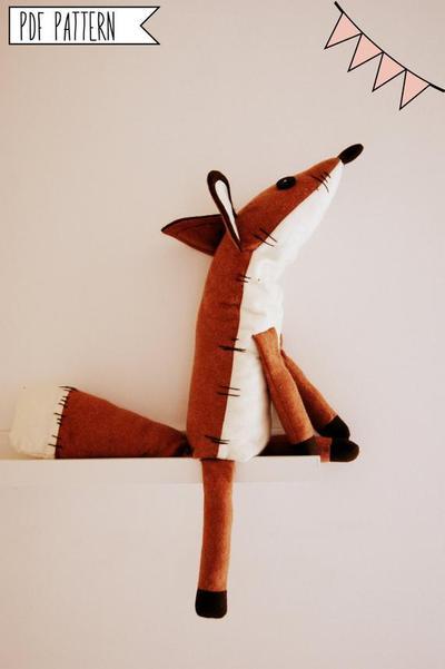Fox Stuffed Animal sewing pattern