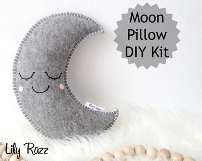 Gris Luna almohada DIY KIT