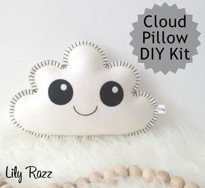 Kit de costura de nube blanca