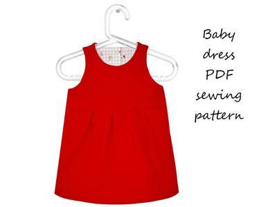 Baby dress sewing pattern PDF download