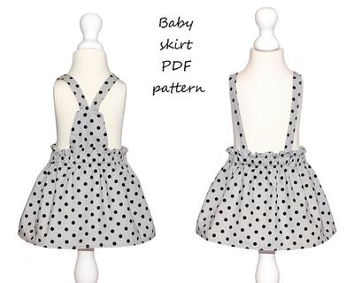 Baby skirt pattern PDF