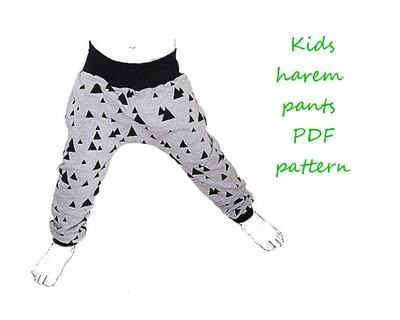 Kids harem pants pattern pdf