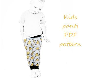 Kids pants pattern pdf, boys pants pattern, kids sewing patterns