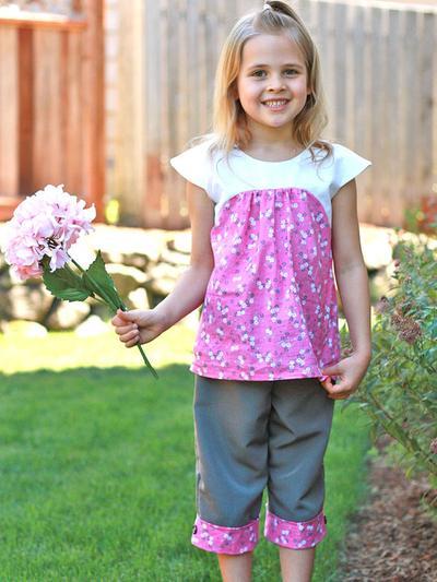 Girls Dress Pattern pdf, Tunic Pattern.