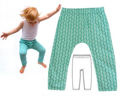 Harem Pants Pattern, Baby Leggings Pattern.