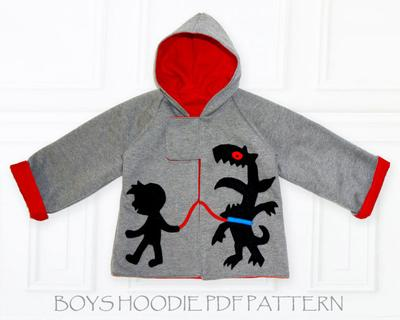 MONSTER HOODIE Jacket Boy Pattern
