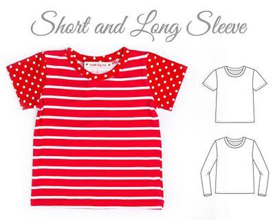 Tshirt pattern pdf, kids top pattern.