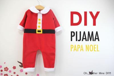 DIY Pijama Papa Noel