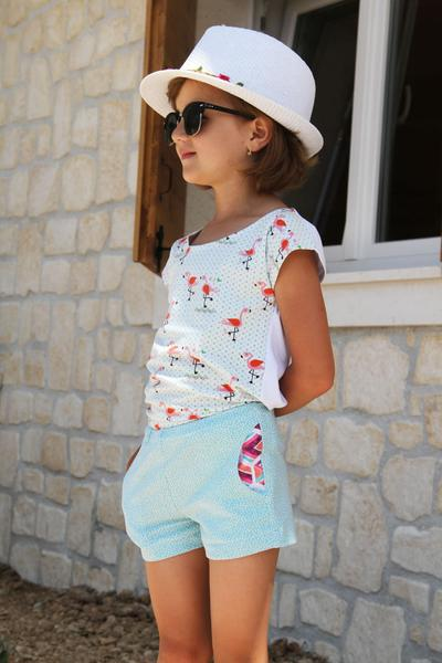 Children T-shirt EASY with short kimono sleeves