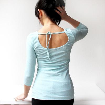Womens low back T-shirt BALLERINA