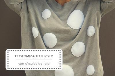 Costura fácil: Customiza un jersey con círculos