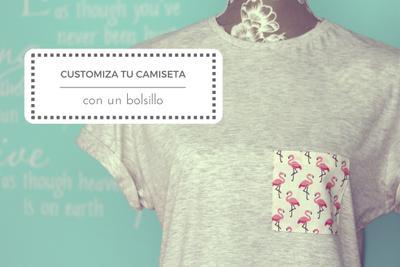 Costura fácil: Tutorial para customizar una camiseta con un bolsillo