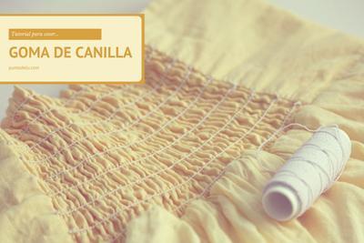 Tutorial para coser con goma de canilla o hilo elástico