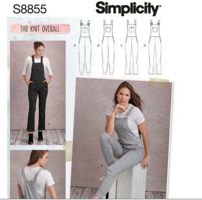 Knit Overalls sewing pattern