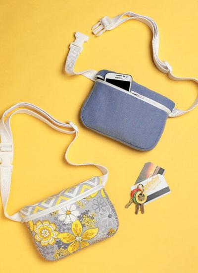 Kwik Sew Zip-Closure Belly Bags, Fanny Packs