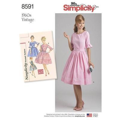 Misses and Petites Vintage Dress Sewing Pattern