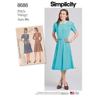 Misses Vintage Dresses Sewing Pattern