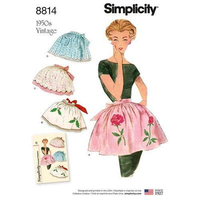 Misses Vintage Style Aprons Sewing Pattern