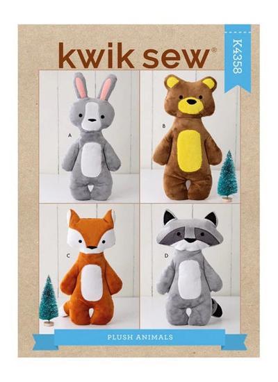 Plush Animals Sewing Pattern, Stuffed Animals sewing Pattern
