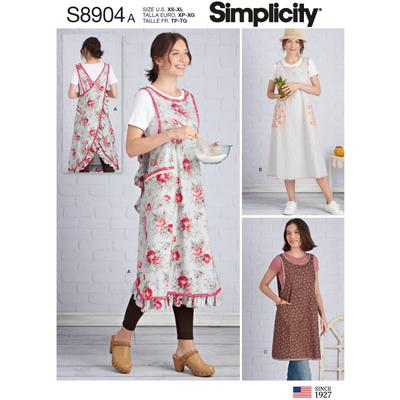Simplicity Sewing Pattern Misses Wraparound Apron