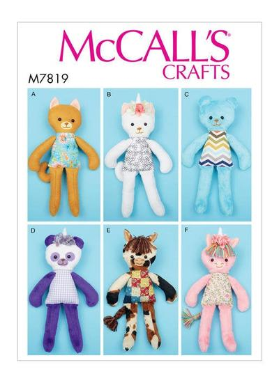 Soft Toy Animals Sewing Pattern