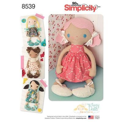 Stuffed Dolls and Clothes Sewing Pattern