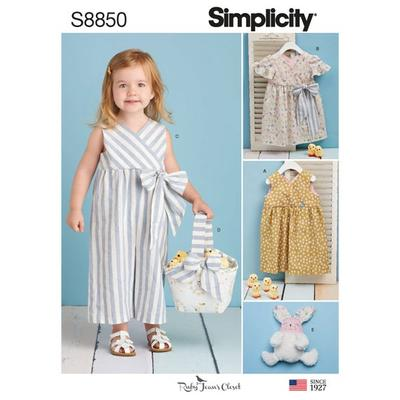 Toddlers Dress, Jumpsuit, Basket, and Toy Sewing Pattern
