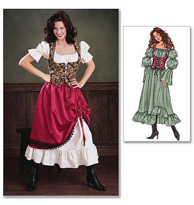 Womens costume sewing pattern. Gypsy costume