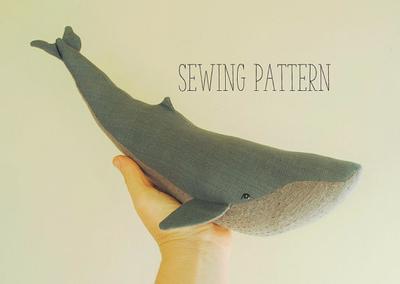 Ballena azul costura patrón/Soft tutorial whale PDF