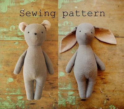 Bunny or bear sewing pattern