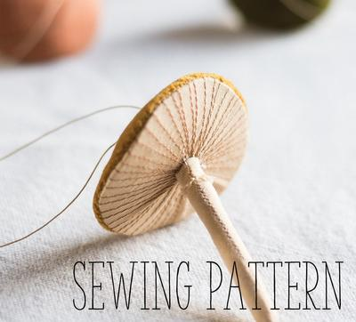 Embroidered Mushroom / toadstool soft sculpture digital sewing pattern