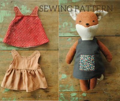 Miniature dress apron digital sewing pattern
