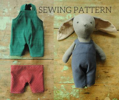 Miniature overalls and pants digital sewing pattern