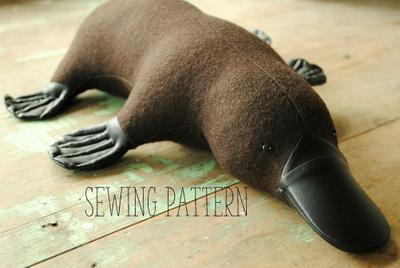 Platypus soft toy sewing pattern