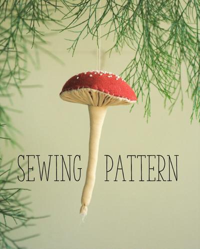 Pleated mushroom / toadstool digital sewing pattern